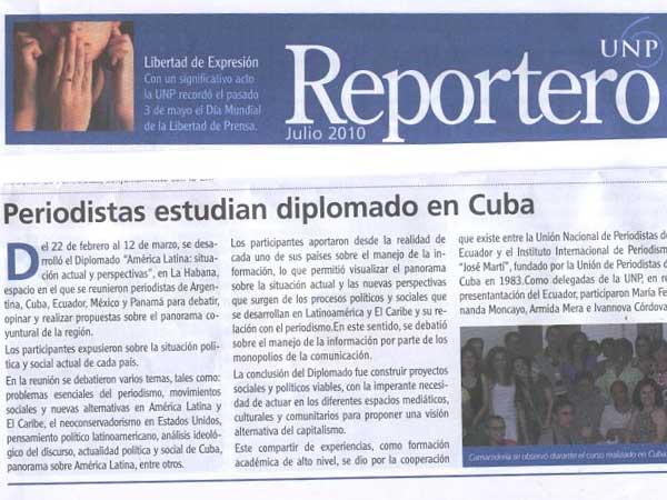 Reportero, publicación de la UNP