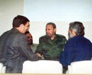 Junto a Fidel Castro, Juan Carlos Camaño y Nelson del Castillo.